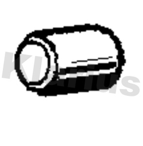 Tube d'echappement KLARIUS 110549 (X1)