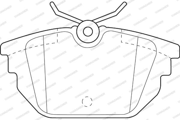 Plaquettes de frein arriere WAGNER WBP23177A (Jeu de 4)