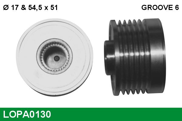Poulie d'alternateur LUCAS LOPA0130 (X1)