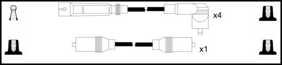 Cable d'allumage LUCAS LUC4206 (X1)