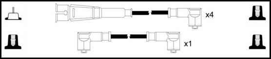 Cable d'allumage LUCAS LUC5019 (X1)
