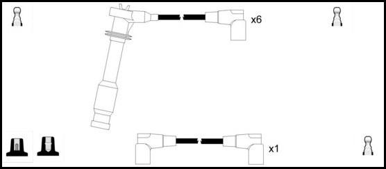 Cable d'allumage LUCAS LUC5258 (X1)