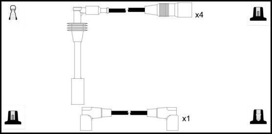 Cable d'allumage LUCAS LUC5260 (X1)