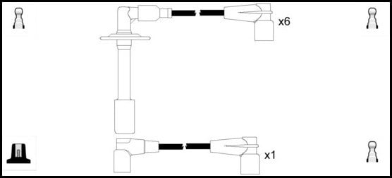 Cable d'allumage LUCAS LUC5261 (X1)