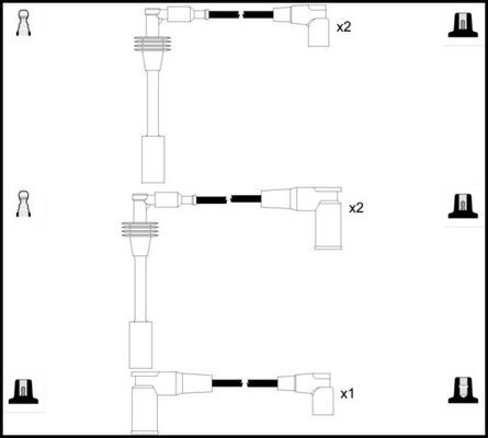 Cable d'allumage LUCAS LUC5262 (X1)