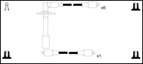 Cable d'allumage LUCAS LUC5266 (X1)