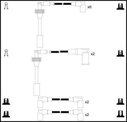 Cable d'allumage LUCAS LUC5269 (X1)