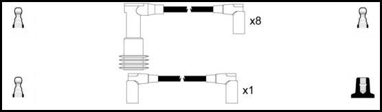 Cable d'allumage LUCAS LUC5271 (X1)