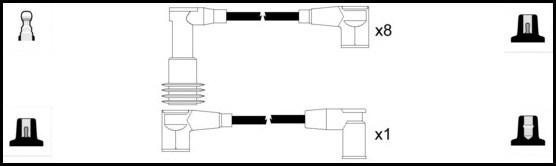 Cable d'allumage LUCAS LUC5281 (X1)