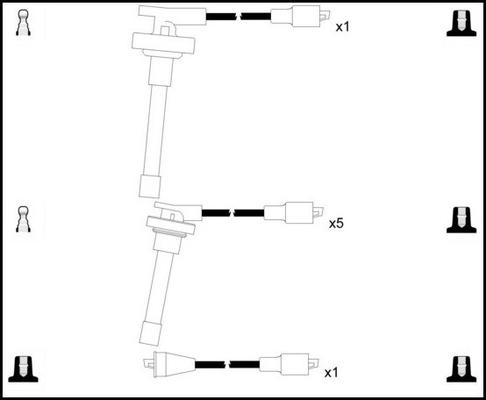 Cable d'allumage LUCAS LUC7284 (X1)