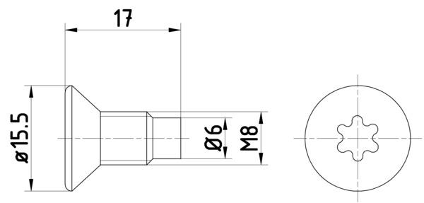 Vis disque de frein HELLA PAGID 8DZ 355 209-041 (X1)