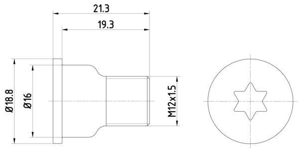 Vis disque de frein HELLA PAGID 8DZ 355 209-051 (X1)
