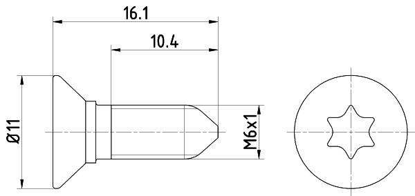 Vis disque de frein HELLA PAGID 8DZ 355 209-081 (X1)