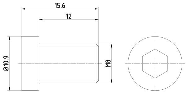 Vis disque de frein HELLA PAGID 8DZ 355 209-091 (X1)