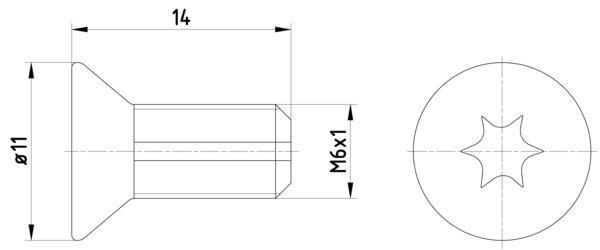 Vis disque de frein HELLA PAGID 8DZ 355 209-121 (X1)