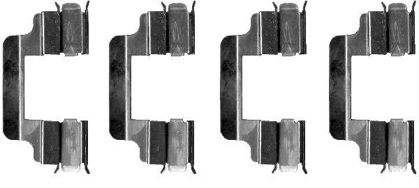Kit de montage plaquettes de frein HELLA PAGID 8DZ 355 202-701 (X1)