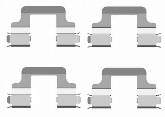 Kit de montage plaquettes de frein HELLA PAGID 8DZ 355 204-101 (X1)