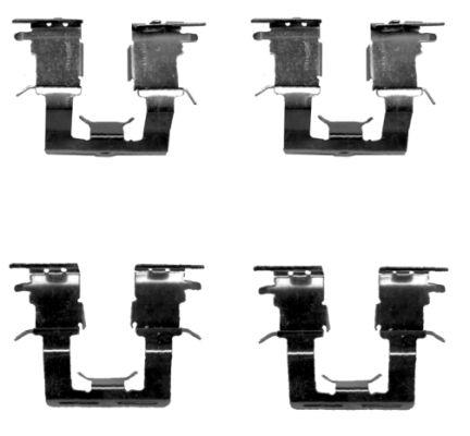 Kit de montage plaquettes de frein HELLA PAGID 8DZ 355 204-921 (X1)