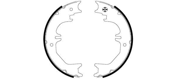 Jeu de mâchoires de frein de frein à main HELLA PAGID 8DA 355 050-721 (X1)