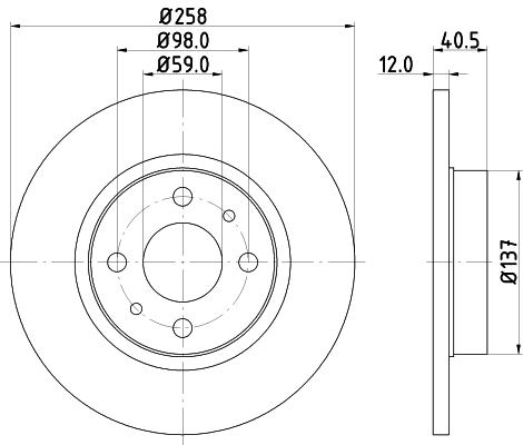 Disque de frein HELLA PAGID 8DD 355 101-621 (Jeu de 2)