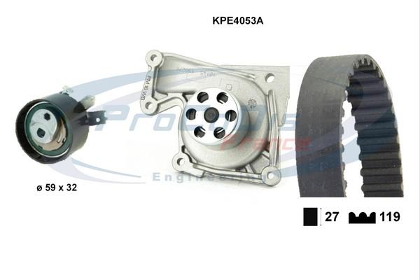 Kit distribution + pompe a eau SOLID PARTS KPE4053A (X1)