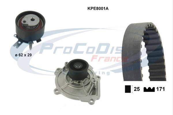 Kit distribution + pompe a eau SOLID PARTS KPE8001A (X1)