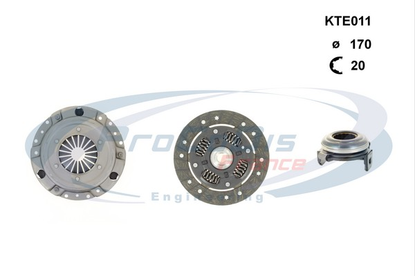 Kit d'embrayage SOLID PARTS KTE011 (X1)