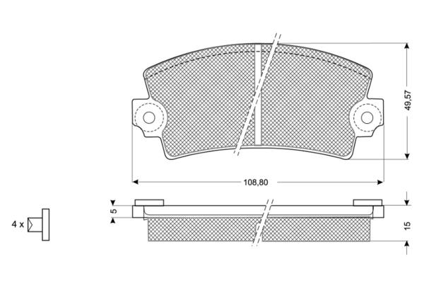 Plaquettes de frein SOLID PARTS PF1043 (X1)