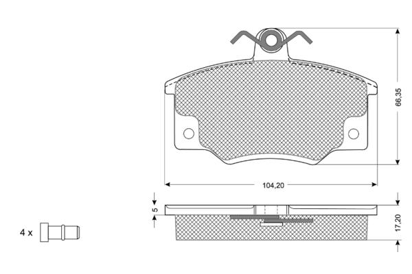 Plaquettes de frein SOLID PARTS PF10731 (X1)