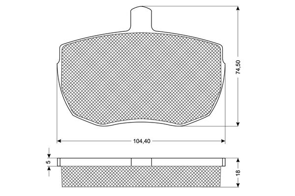 Plaquettes de frein avant SOLID PARTS PF1121 (X1)