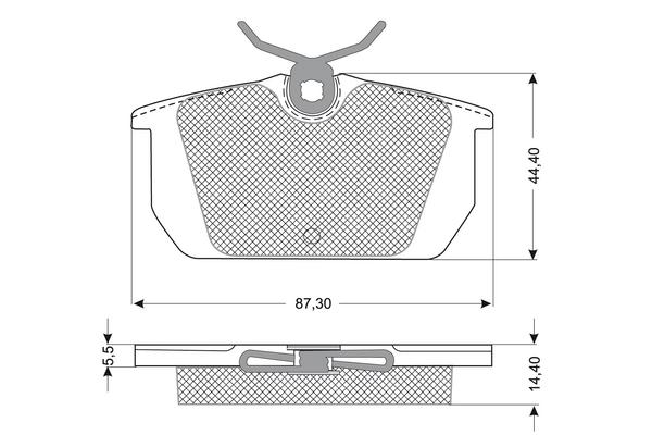 Plaquettes de frein SOLID PARTS PF1201 (X1)