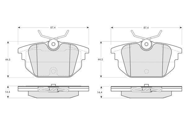 Plaquettes de frein arriere SOLID PARTS PF1243 (X1)