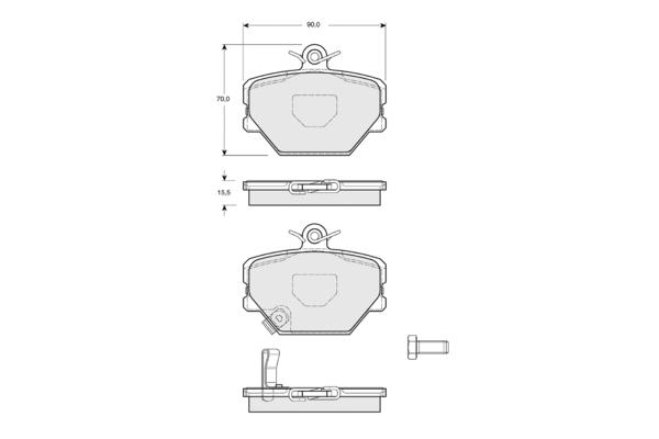Plaquettes de frein avant SOLID PARTS PF1507 (X1)