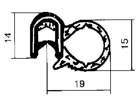 Joint d'étanchéité de porte Metalcaucho 00601 (X1)