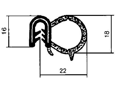 Joint d'étanchéité de porte Metalcaucho 00602 (X1)