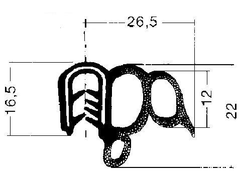 Joint d'étanchéité de porte Metalcaucho 00774 (X1)