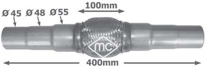 Tuyau flexible, échappement Metalcaucho 02046 (X1)
