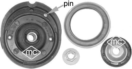 Kit de réparation coupelle de suspension Metalcaucho 05876 (X1)