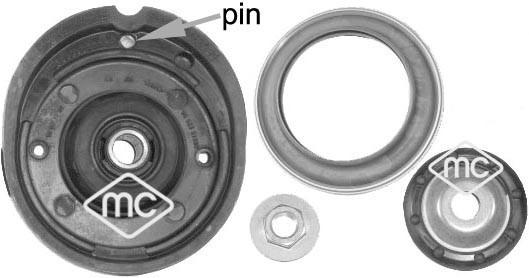 Kit de réparation coupelle de suspension Metalcaucho 05877 (X1)