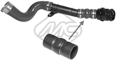 Durite turbo Metalcaucho 09977 (X1)