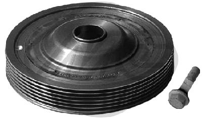 Poulie damper/vilebrequin Metalcaucho 15172 (X1)