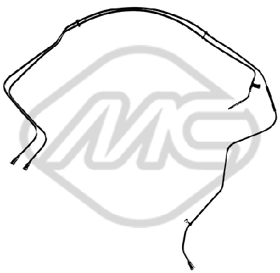 Conduite alimentation carburant Metalcaucho 92086 (X1)