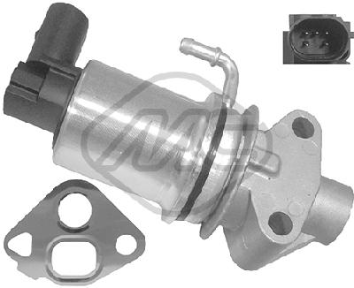 Soupape, réaspiration/contrôle des gaz d'échappement Metalcaucho 93024 (X1)