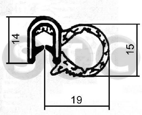 Joint d'étanchéité de porte STC T400601 (X1)