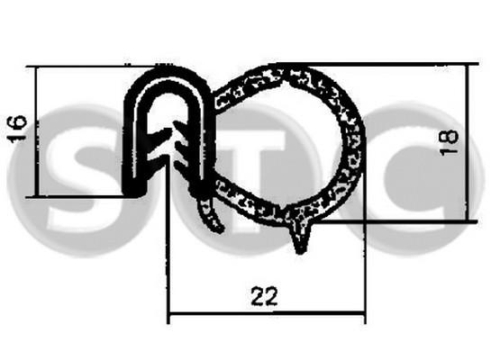 Joint d'étanchéité de porte STC T400602 (X1)