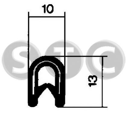 Joint d'étanchéité de porte STC T400605 (X1)