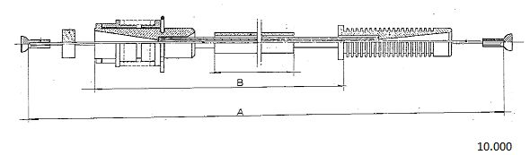 Cable d'accelerateur CABOR 10.000 (X1)