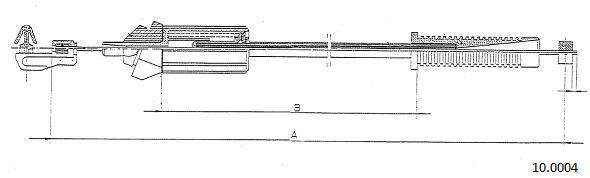 Cable d'accelerateur CABOR 10.0004 (X1)