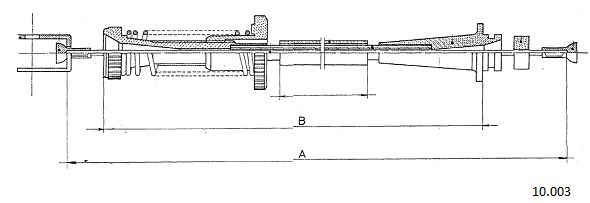Cable d'accelerateur CABOR 10.003 (X1)