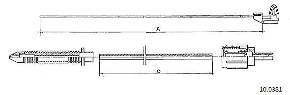 Cable d'accelerateur CABOR 10.0381 (X1)